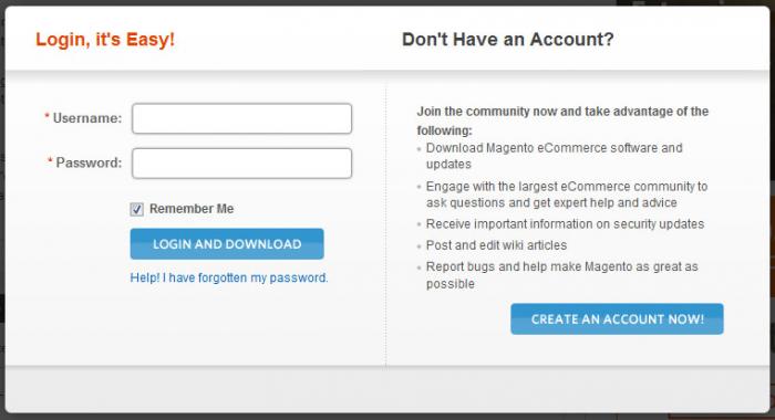 Maak een account aan bij Magento om te starten