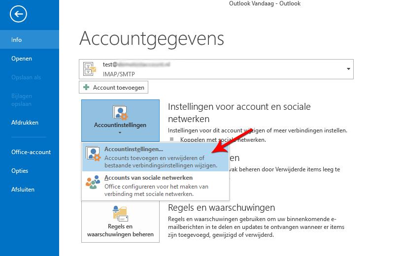 Open Accountinstellingen