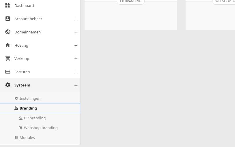 Je kunt zelf je eigen huisstijl toepassen op het controle paneel en de webshop