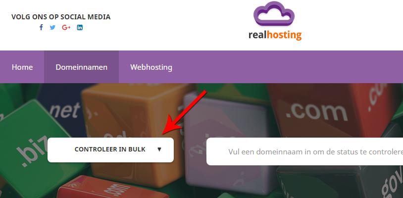 Via de webshop kan je domeinnamen in bulk verhuizen