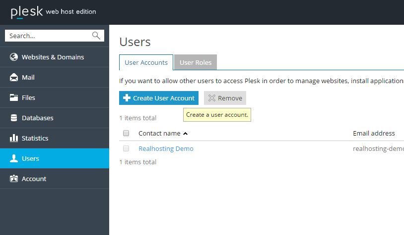 In Plesk kan je meerdere gebruikers toevoegen