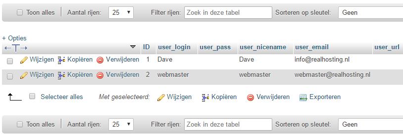 Het e-mailadres van de gebruiker aanpassen