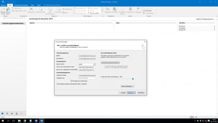 E-mail instellen Microsoft Outlook 2016