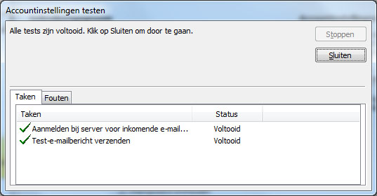 E-mail instellen Microsoft Outlook 2010