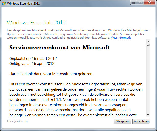E-mail instellen Windows Live Mail