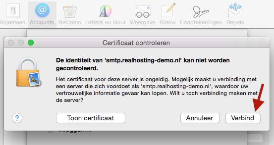 E-mail instellen op Mac OS (Mail)