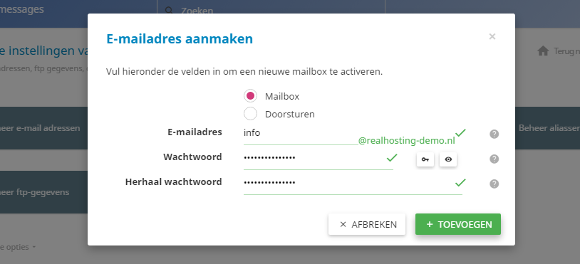Het toevoegen van een e-mailadres is een fluitje van een cent