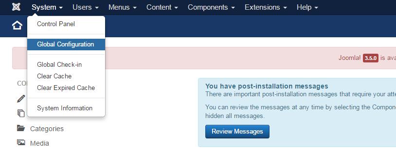Binnen de back-end kan je de URL instellingen beheren
