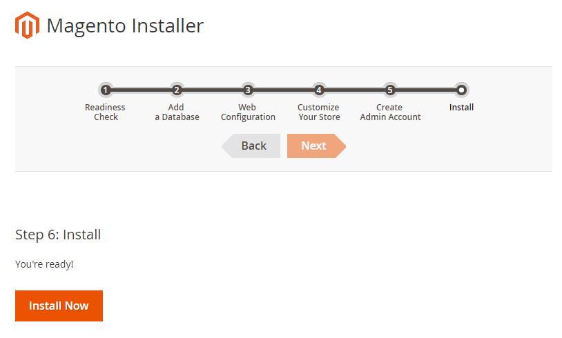 De laatste stap is het daadwerkelijk installeren