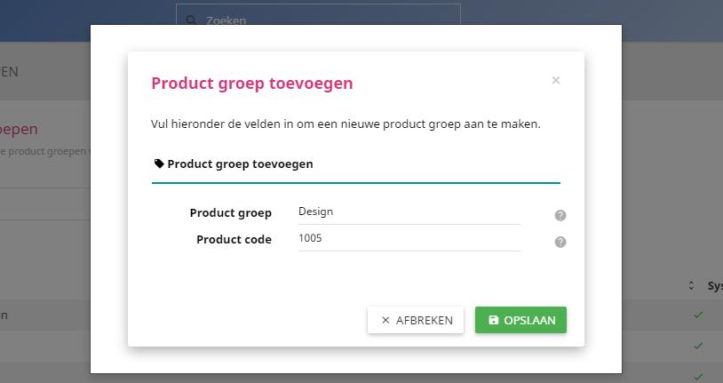 Een productgroep toevoegen is zo gedaan