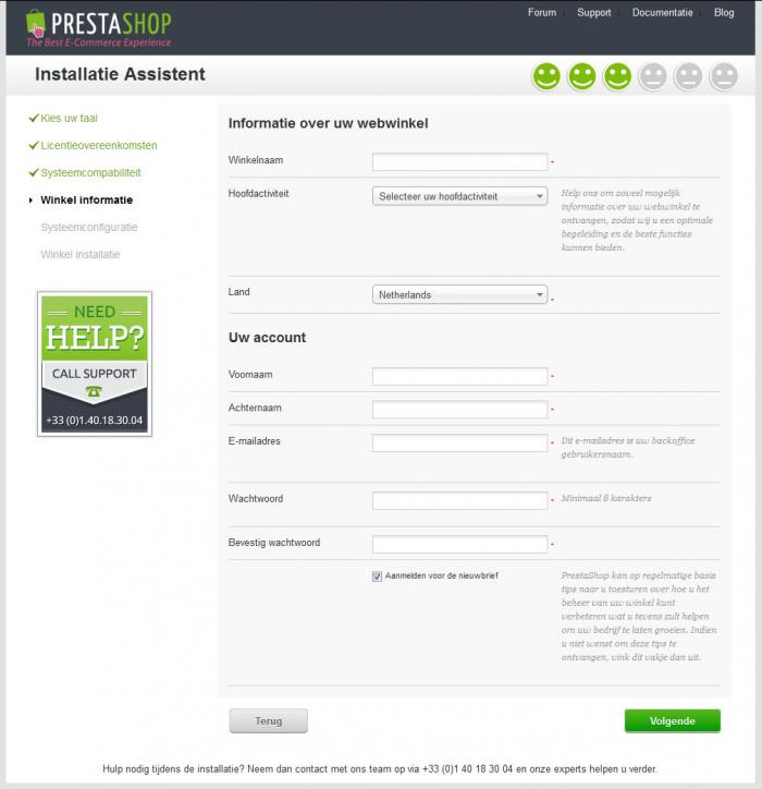 Configuratie PrestaShop