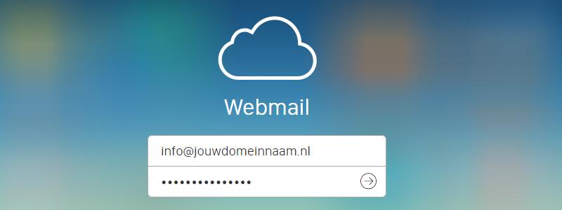 Inlogscherm webmail