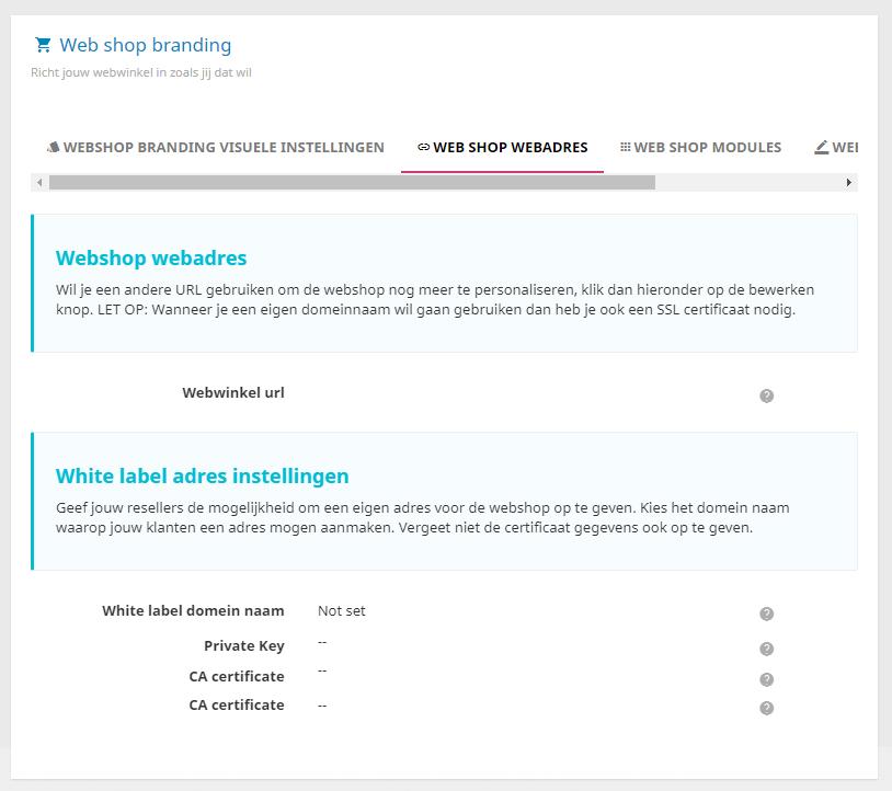 Zelf je eigen huisstijl toepassen op de webshop