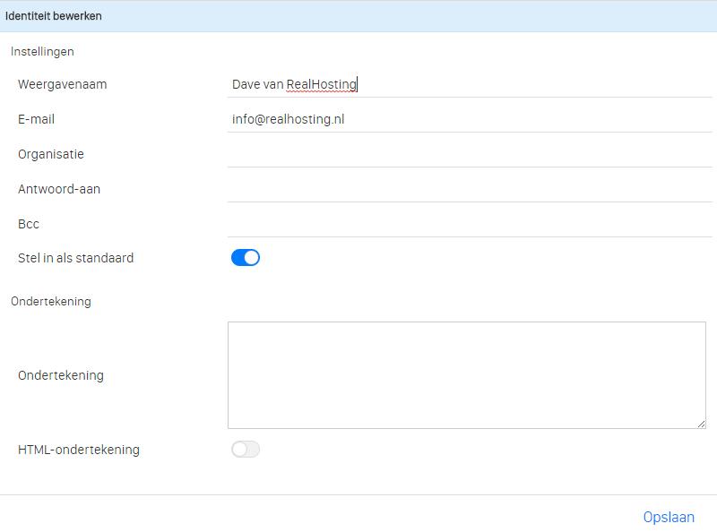Wijzig gemakkelijk de weergavenaam binnen webmail